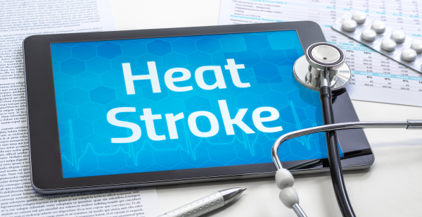 the word heat stroke on the