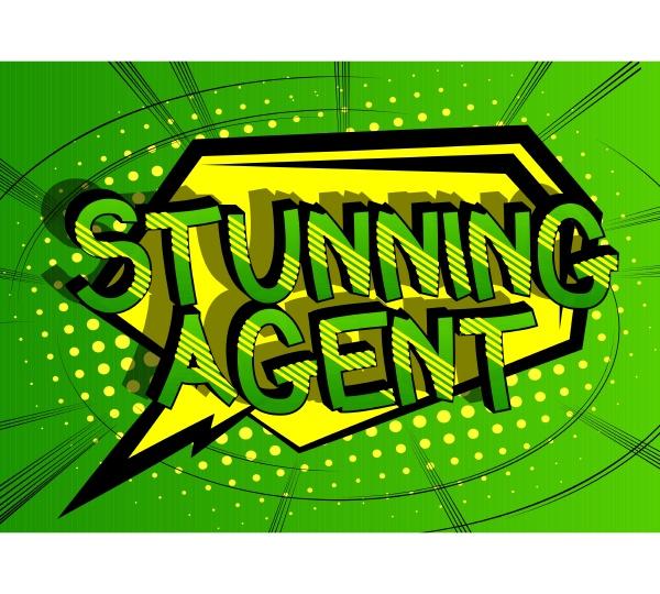 stunning agent comic book style cartoon