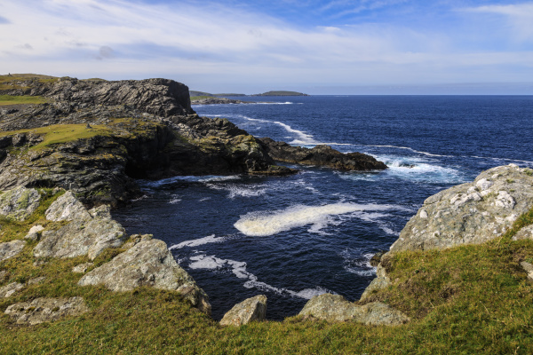 isle of fethaland frothy sea