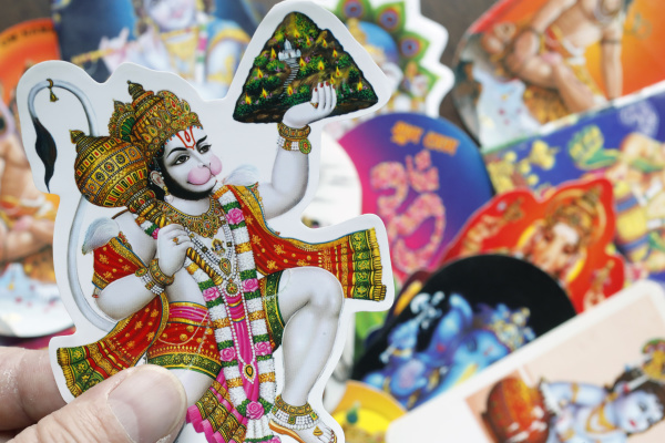 image of hindu god hanuman fetching