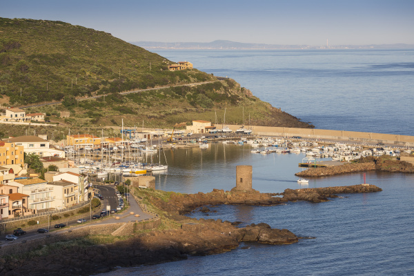 view towards marina castelsardo