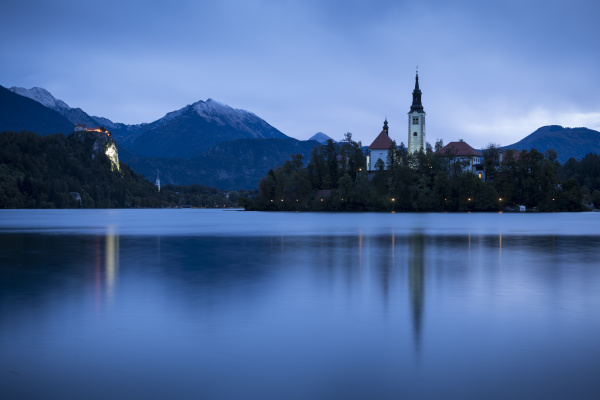 bled island with the church of