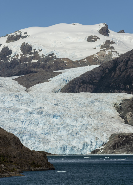 asia fjord and brujo glacier chilean