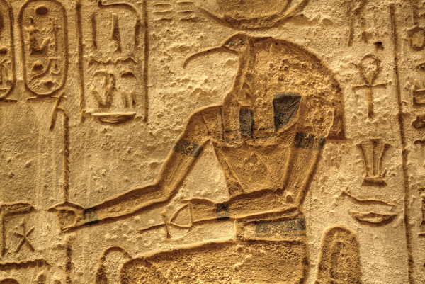 god thoth sunken relief lateral chamber