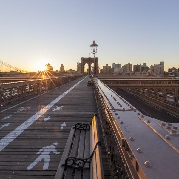 view across brooklyn bridge new york