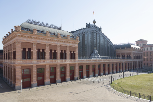 view of the empty atocha station