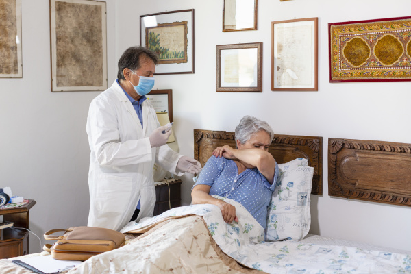 a doctor making a home visit