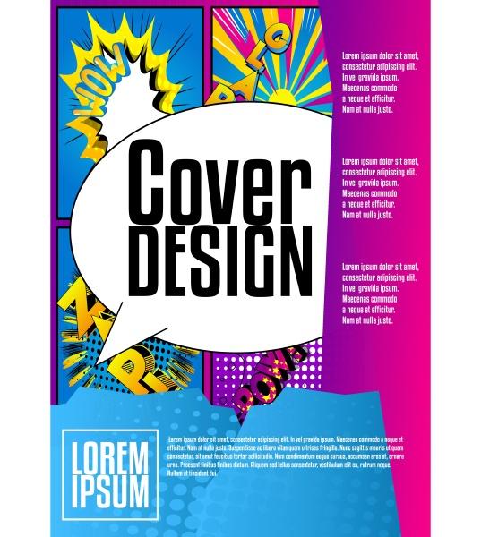 geometry comic book style cartoon brochure