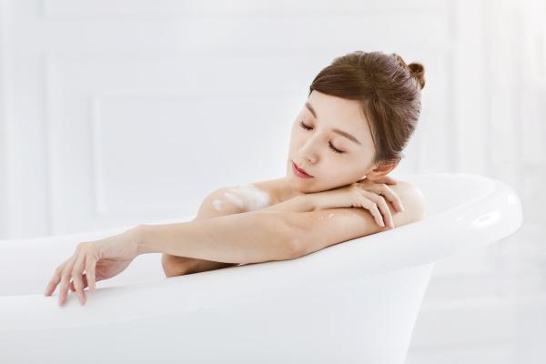beautiful young asian woman relaxing in