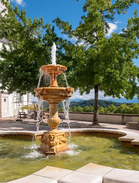 fountain of the castle of pau