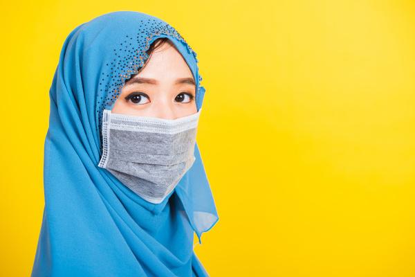 asian muslim arab young woman wear