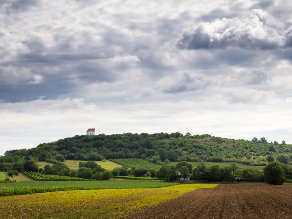 chapel on a hill in burgenland