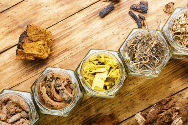 dry medicinal healing herbs