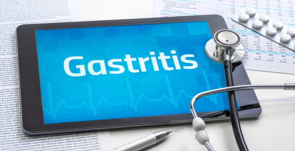 the word gastritis on the display