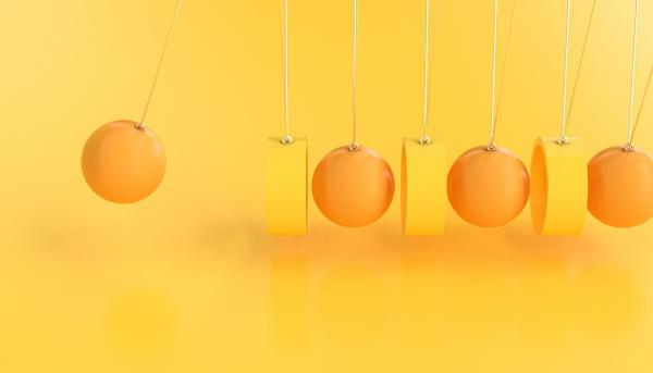 newton s pendulum made with rings