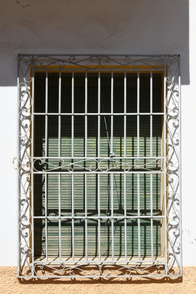 a barred window in the province