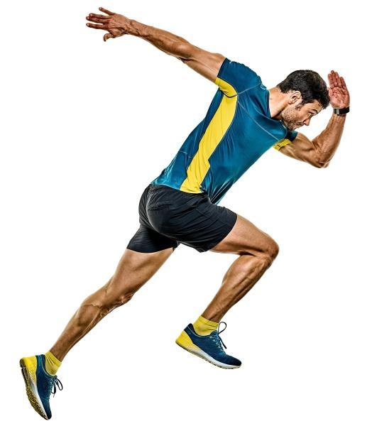 mature man running runner jogging jogger