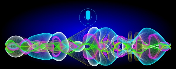 multi coloured voice recognition with a