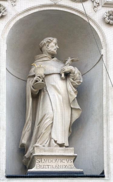 saint louis bertrand on the facade