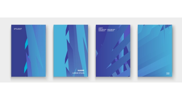 minimal cover collection design colorful blue