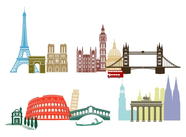 sights and landmarks in europe