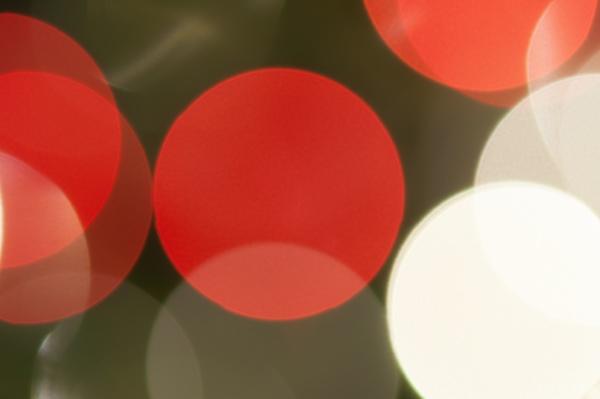 colourful festive multi colored circles defocused