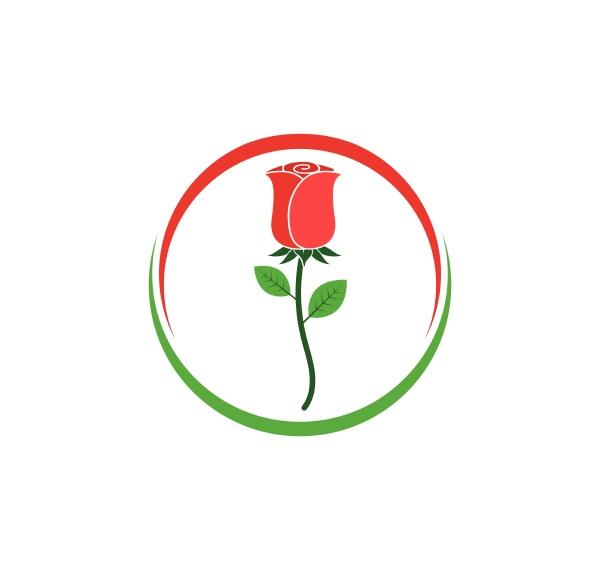 rose flower logo vector template
