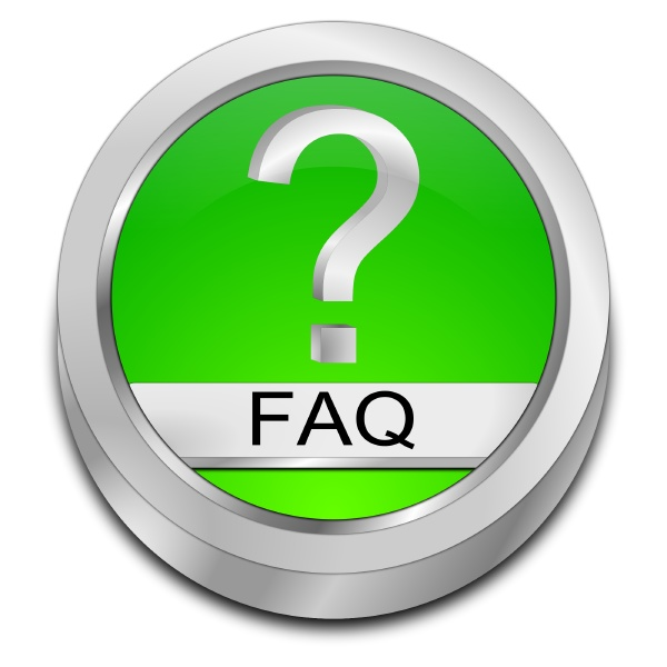 green faq button 3d illustration