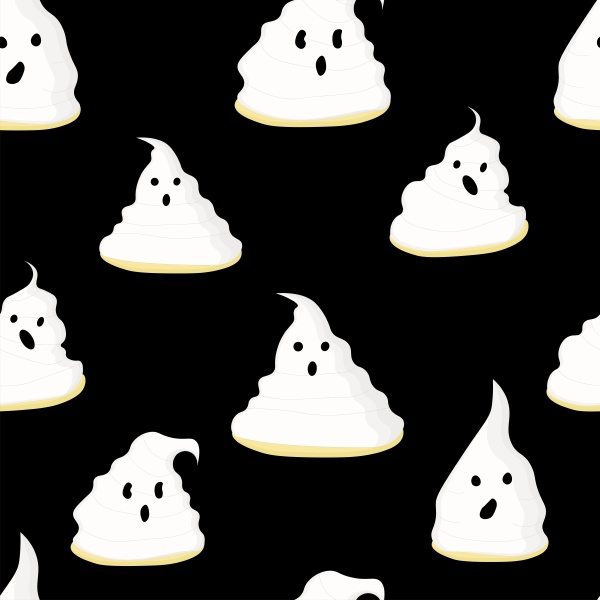 wrapping paper design ghosts pattern seamless
