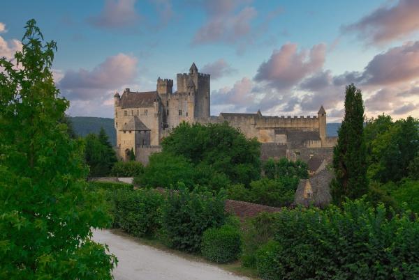 view of beynac castle in france