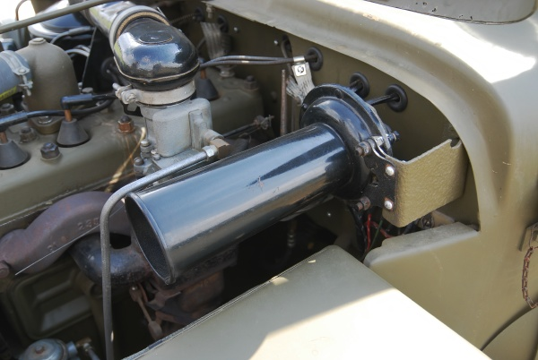close up of engine of military
