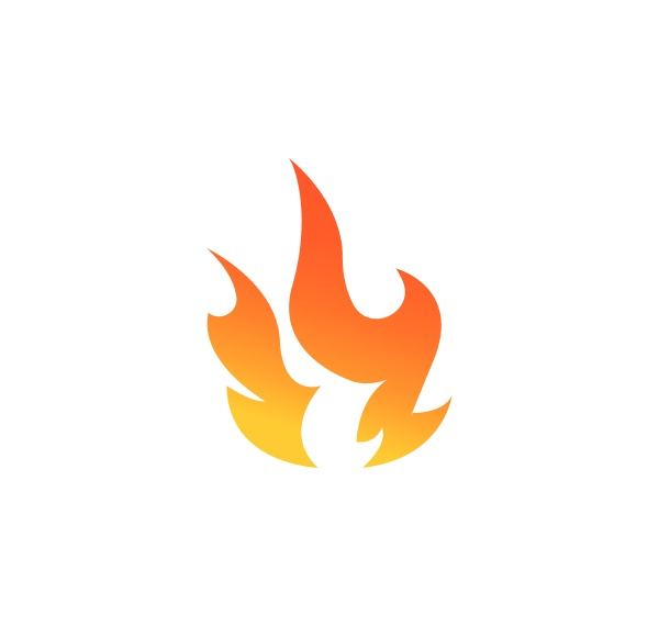 fire flame logo icon vector illustration