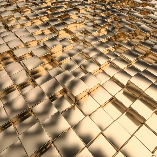 geometric background with gold colored mosaic