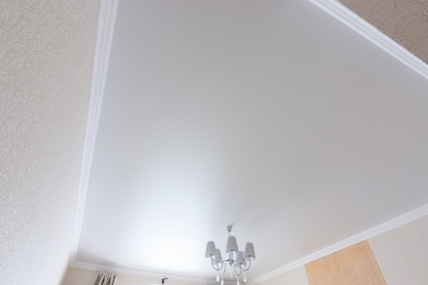 white matte ceiling in a large
