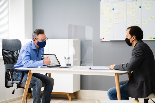 office meeting or interview with social