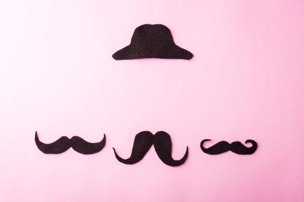 black mustache and cap