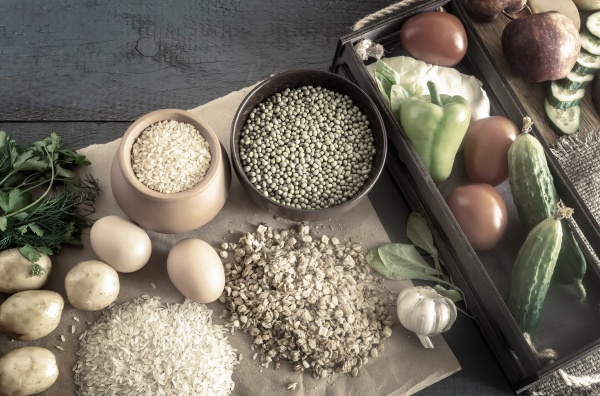 assortment of natural food ingredients healthy
