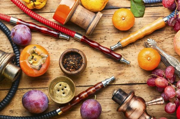 turkish hookah on fruits