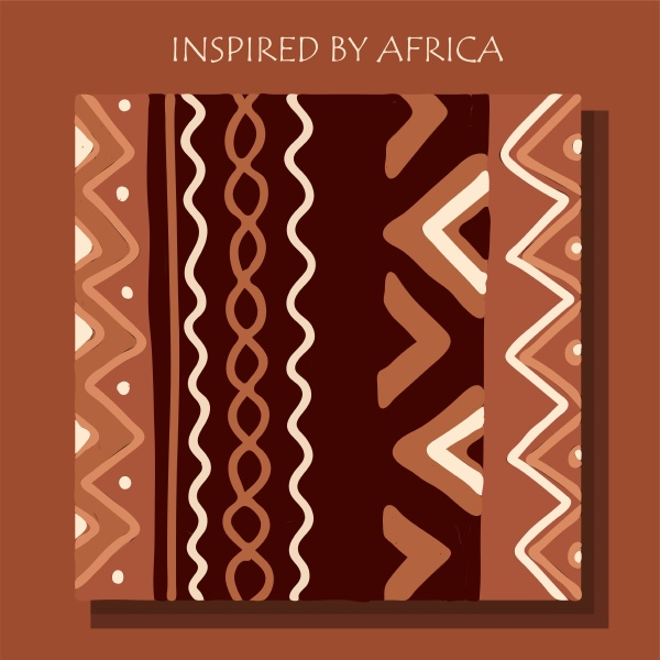 african background flyer with grunge