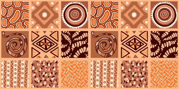 african print seamless vector pattern