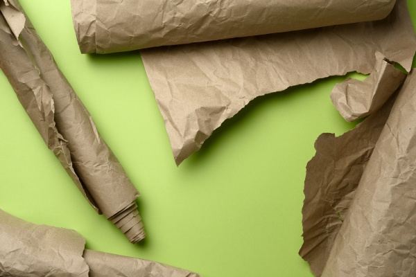 various roll of brown wrapping paper