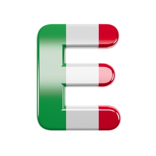 italian letter e capital