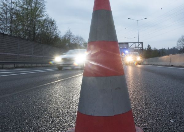 pylons as detour or redirection on