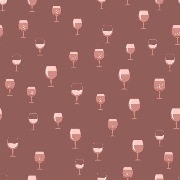 glass of wine seamless pattern wineglass