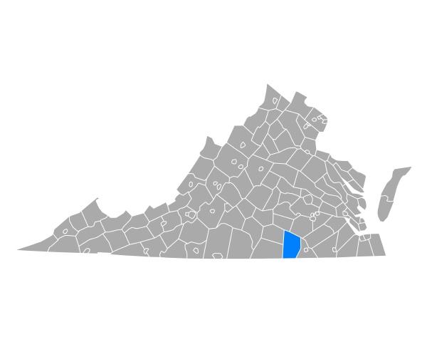 map of brunswick in virginia