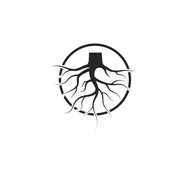 tree roots vector icon illustration design