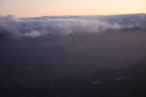 sea of clouds over the mesa