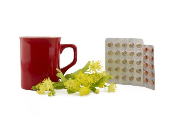 alternative treatment of linden blossom tea