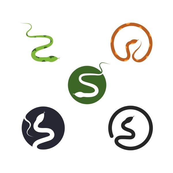 snake vector illustration icon