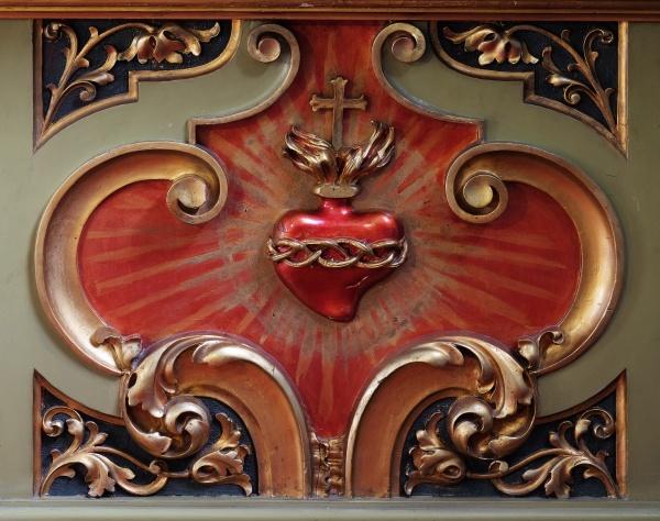 sacred heart of jesus detail of